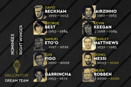 کدام وینگر راست شایسته حضور در لیست فرانس فوتبال بود؟ / نظرسنجی