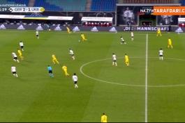 3 ضربه بازیکنان اوکراین که به تیرک دروازه آلمان برخورد کرد (آلمان 3-1 اوکراین)