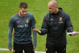 روبرتو مارتینز: احتمال حضور هازارد در بازی مقابل دانمارک وجود دارد
