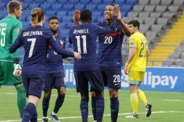 قزاقستان 0-2 فرانسه؛ برد بی دردسر شاگردان دشان
