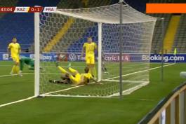 گل به خودی مالی مقابل فرانسه (قزاقستان 0-2 فرانسه)