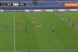 خلاصه بازی بنفیکا 1-1 آرسنال (لیگ اروپا - 2020/21)