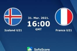 رسمی؛ ترکیب تیم های فرانسه و ایسلند (یورو زیر 21 سال)