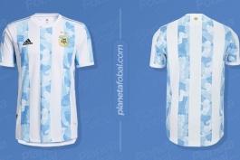 رونمایی از پیراهن اول جدید تیم ملی آرژانتین / عکس