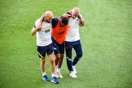 مصدومیت مارکوس تورام و توماس لمار در جریان تمرینات تیم ملی فرانسه