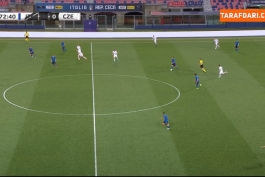 گل دومنیکو براردی به چک (ایتالیا 4-0 جمهوری چک)