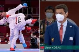 داور ترک مبارزه کاراته گنج زاده و حریف عربستانی: به من گفتند با چاقو خانواده ات را قطعه قطعه می کنیم
