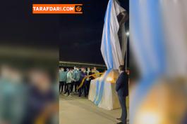 رونمایی از مجسمه دیگو مارادونا، اسطوره فقید فوتبال آرژانتین در مقابل ورزشگاه شهر سانتیاگو دل استرو / فیلم