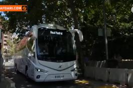 بازدید کارلو آنچلوتی به همراه بازیکنان رئال مادرید از روند نوسازی ورزشگاه سانتیاگو برنابئو / فیلم
