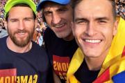بارسلونا-شهر بارسلون-لالیگا-کوپا دل ری-دوگانه اسپانیا- آندرس اینیستا-طرفداران بارسلونا-جشن قهرمانی در خیابان